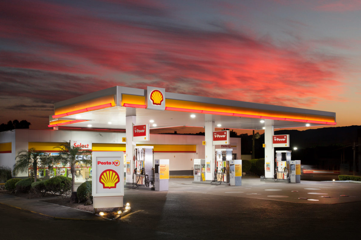 Architectural Photography Gas Station
